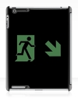 Running Man Fire Safety Exit Sign Emergency Evacuation Apple iPad Tablet Case 143