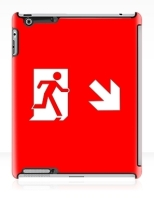 Running Man Fire Safety Exit Sign Emergency Evacuation Apple iPad Tablet Case 145