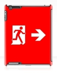Running Man Fire Safety Exit Sign Emergency Evacuation Apple iPad Tablet Case 147