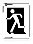 Running Man Fire Safety Exit Sign Emergency Evacuation Apple iPad Tablet Case 148