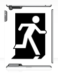 Running Man Fire Safety Exit Sign Emergency Evacuation Apple iPad Tablet Case 149