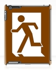 Running Man Fire Safety Exit Sign Emergency Evacuation Apple iPad Tablet Case 15