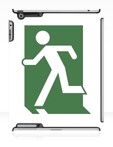 Running Man Fire Safety Exit Sign Emergency Evacuation Apple iPad Tablet Case 150