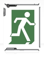 Running Man Fire Safety Exit Sign Emergency Evacuation Apple iPad Tablet Case 151