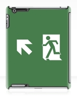 Running Man Fire Safety Exit Sign Emergency Evacuation Apple iPad Tablet Case 152