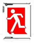 Running Man Fire Safety Exit Sign Emergency Evacuation Apple iPad Tablet Case 153