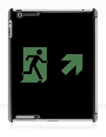 Running Man Fire Safety Exit Sign Emergency Evacuation Apple iPad Tablet Case 154