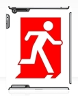 Running Man Fire Safety Exit Sign Emergency Evacuation Apple iPad Tablet Case 155