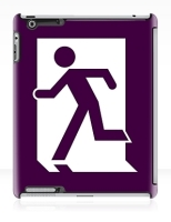 Running Man Fire Safety Exit Sign Emergency Evacuation Apple iPad Tablet Case 156