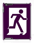 Running Man Fire Safety Exit Sign Emergency Evacuation Apple iPad Tablet Case 157