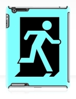 Running Man Fire Safety Exit Sign Emergency Evacuation Apple iPad Tablet Case 158