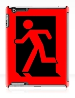 Running Man Fire Safety Exit Sign Emergency Evacuation Apple iPad Tablet Case 159