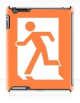 Running Man Fire Safety Exit Sign Emergency Evacuation Apple iPad Tablet Case 16
