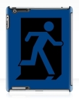Running Man Fire Safety Exit Sign Emergency Evacuation Apple iPad Tablet Case 160