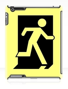 Running Man Fire Safety Exit Sign Emergency Evacuation Apple iPad Tablet Case 162