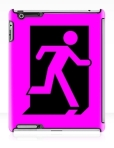 Running Man Fire Safety Exit Sign Emergency Evacuation Apple iPad Tablet Case 163