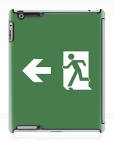 Running Man Fire Safety Exit Sign Emergency Evacuation Apple iPad Tablet Case 164