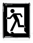 Running Man Fire Safety Exit Sign Emergency Evacuation Apple iPad Tablet Case 17