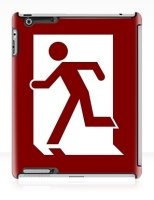 Running Man Fire Safety Exit Sign Emergency Evacuation Apple iPad Tablet Case 18