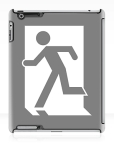 Running Man Fire Safety Exit Sign Emergency Evacuation Apple iPad Tablet Case 19