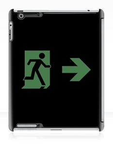 Running Man Fire Safety Exit Sign Emergency Evacuation Apple iPad Tablet Case 2