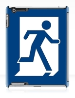 Running Man Fire Safety Exit Sign Emergency Evacuation Apple iPad Tablet Case 21