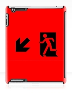 Running Man Fire Safety Exit Sign Emergency Evacuation Apple iPad Tablet Case 22