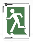 Running Man Fire Safety Exit Sign Emergency Evacuation Apple iPad Tablet Case 24