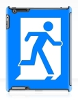 Running Man Fire Safety Exit Sign Emergency Evacuation Apple iPad Tablet Case 25