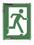 Running Man Fire Safety Exit Sign Emergency Evacuation Apple iPad Tablet Case 26