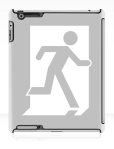Running Man Fire Safety Exit Sign Emergency Evacuation Apple iPad Tablet Case 27