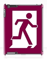 Running Man Fire Safety Exit Sign Emergency Evacuation Apple iPad Tablet Case 28