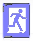 Running Man Fire Safety Exit Sign Emergency Evacuation Apple iPad Tablet Case 29