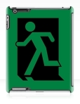 Running Man Fire Safety Exit Sign Emergency Evacuation Apple iPad Tablet Case 3