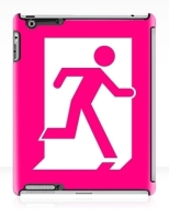 Running Man Fire Safety Exit Sign Emergency Evacuation Apple iPad Tablet Case 31