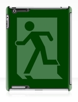 Running Man Fire Safety Exit Sign Emergency Evacuation Apple iPad Tablet Case 34
