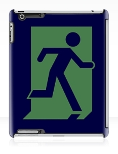 Running Man Fire Safety Exit Sign Emergency Evacuation Apple iPad Tablet Case 37