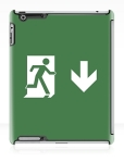 Running Man Fire Safety Exit Sign Emergency Evacuation Apple iPad Tablet Case 38