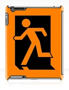 Running Man Fire Safety Exit Sign Emergency Evacuation Apple iPad Tablet Case 4