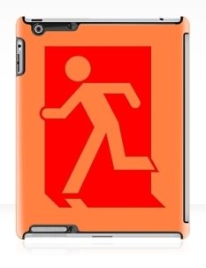 Running Man Fire Safety Exit Sign Emergency Evacuation Apple iPad Tablet Case 40