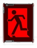 Running Man Fire Safety Exit Sign Emergency Evacuation Apple iPad Tablet Case 41