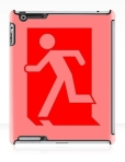 Running Man Fire Safety Exit Sign Emergency Evacuation Apple iPad Tablet Case 42