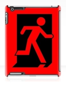 Running Man Fire Safety Exit Sign Emergency Evacuation Apple iPad Tablet Case 45