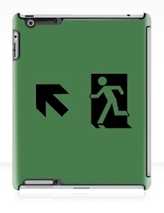 Running Man Fire Safety Exit Sign Emergency Evacuation Apple iPad Tablet Case 46