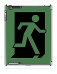 Running Man Fire Safety Exit Sign Emergency Evacuation Apple iPad Tablet Case 47