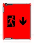 Running Man Fire Safety Exit Sign Emergency Evacuation Apple iPad Tablet Case 48