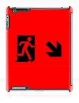 Running Man Fire Safety Exit Sign Emergency Evacuation Apple iPad Tablet Case 49