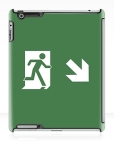 Running Man Fire Safety Exit Sign Emergency Evacuation Apple iPad Tablet Case 50