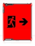 Running Man Fire Safety Exit Sign Emergency Evacuation Apple iPad Tablet Case 52