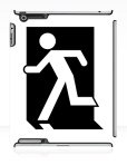 Running Man Fire Safety Exit Sign Emergency Evacuation Apple iPad Tablet Case 54